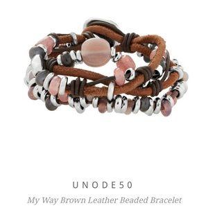 Uno de 50 My Way Brown Leather Bracelet